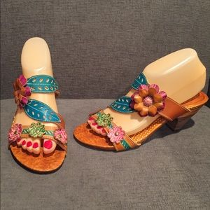 L'Artiste Lona Slide Sandals Spring Step Size 38